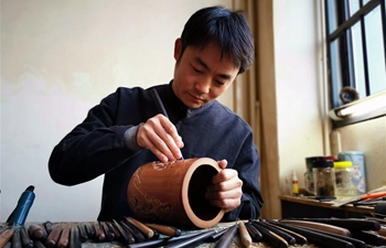 In pics: craftsmen's work in E China's Anhui
