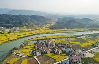 Spring view in Dunzhai Township, SW China's Guizhou