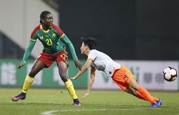 China beats Cameroon 1-0 at final match of 2019 Int'l Women's Football Tournament
