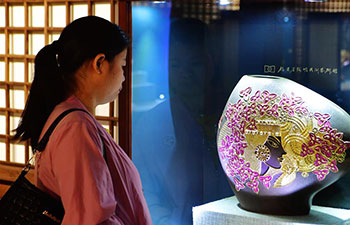 Lacquer thread sculpture displayed in China's Fuzhou