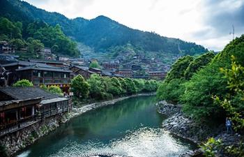 Scenery of Xijiang Qianhu Miao Village in China's Guizhou