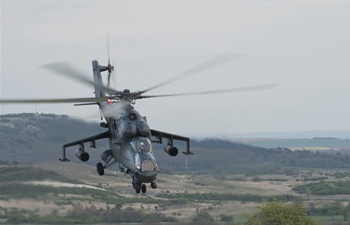 Mi-24P helicopters of Hungarian Army prepare for practice