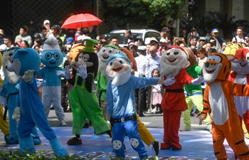 Float parade of 15th China Int'l Cartoon and Animation Festival held in Hangzhou