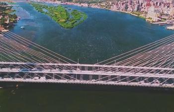 Egypt inaugurates world's widest suspension bridge