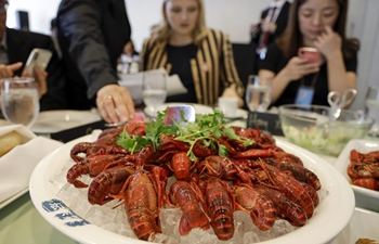 Chinese crayfish cuisine makes debut at UN cafeteria
