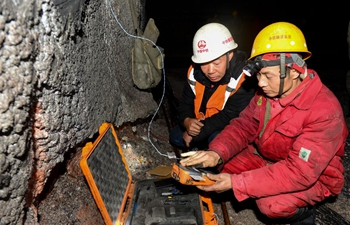 Blasting workers help railway construction march on into China's deep west