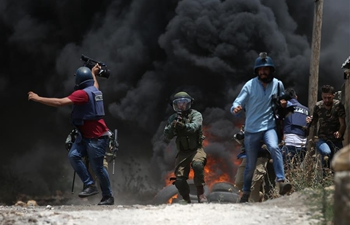Israeli soldiers, Palestinian protesters clash near Nablus