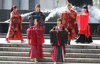 Chinese costume show held in New York, U.S.