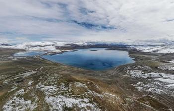 Scenery of lake Nara Yumco in Cona County, China's Tibet