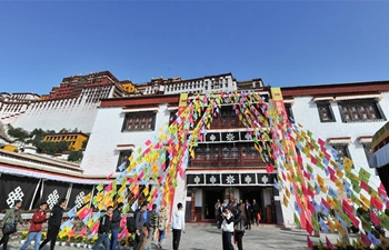 Exhibition featuring Tibetan cultural relics held at Potala Palace in Lhasa