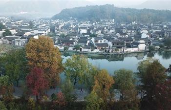 Scenery of Hongcun Village scenic spot in Yixian County, China's Anhui