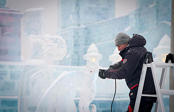 In pics: 34th Harbin Int'l Ice Sculpture Competition