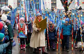 Maslenitsa celebration held in Moscow to mark beginning of spring