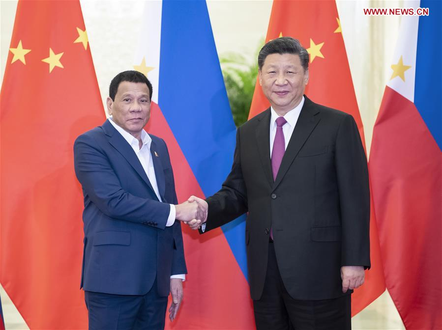 (BRF)CHINA-BEIJING-XI JINPING-PHILIPPINE PRESIDENT-MEETING (CN)