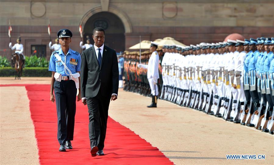 INDIA-ZAMBIA-DIPLOMACY-VISIT