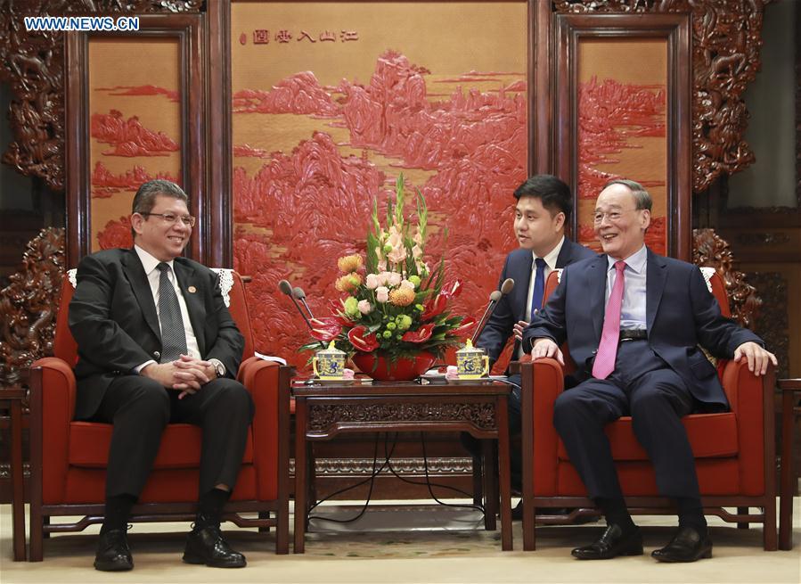 CHINA-BEIJING-WANG QISHAN-MALAYSIAN FM-MEETING (CN)