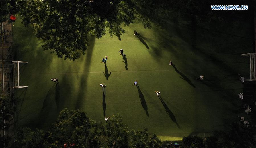 (SP)CHINA-YINCHUAN-SPORTS VENUES-NIGHT(CN)