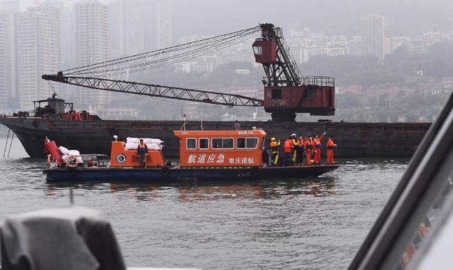 Rescue work underway after bus plunge in Chongqing