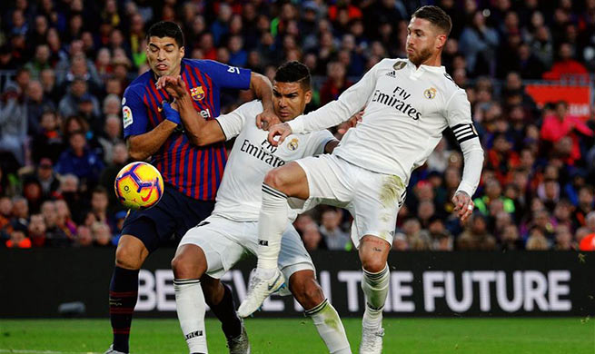 Spanish league match: FC Barcelona beats Real Madrid 5-1