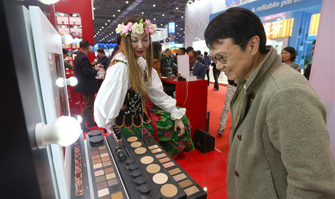 People visit first China International Import Expo in Shanghai