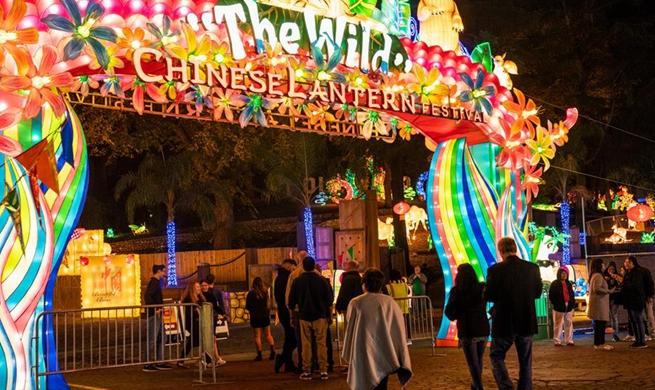 Chinese lantern festival held in Los Angeles