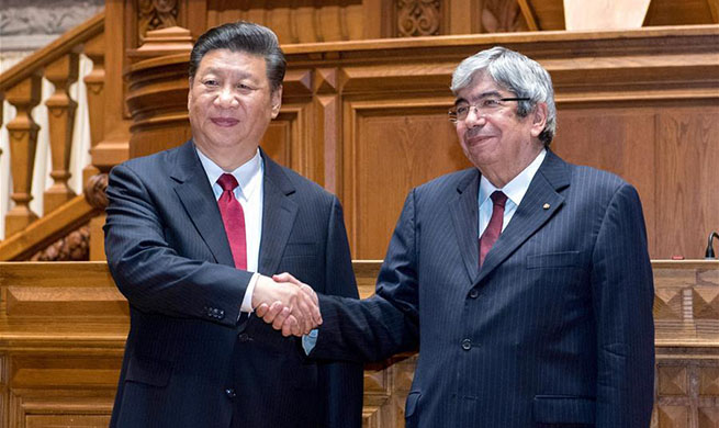 Xi meets president of Portuguese parliament, pledging legislative cooperation
