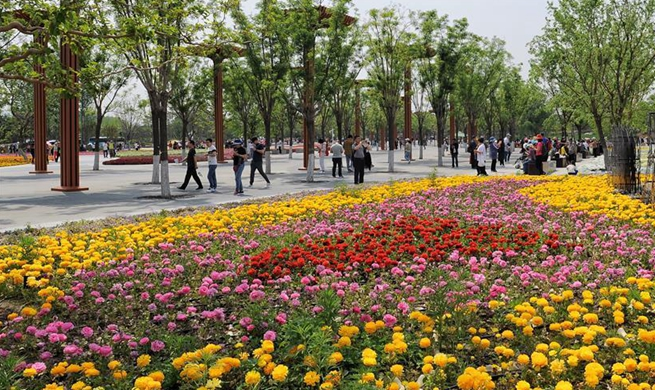 Beijing Int'l Horticultural Exhibition welcomes large number of tourists from home and abroad since opening