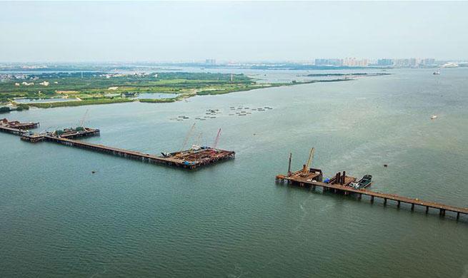 Tiaoshun bridge enters construction phase of main tower