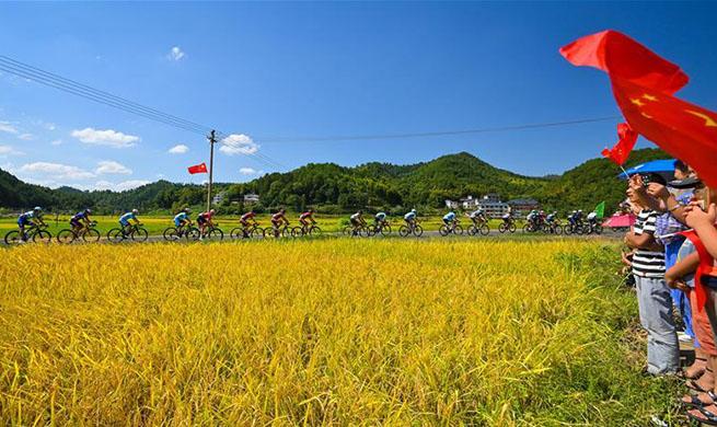 Highlighst of 10th Tour of Poyang Lake in Shangrao, China's Jiangxi