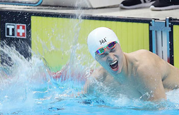 Sun Yang wins 400m freestyle at Asian Games
