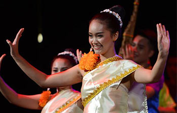 Dancers perform traditional Lao cultural show in Vientiane