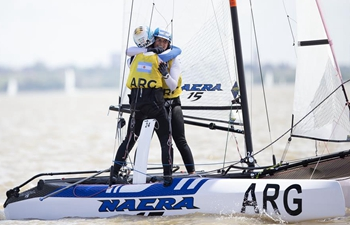 Highlights of sailing mixed two-person multihull Nacra 15 Class final at Youth Olympics