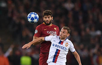 Champions League: Roma beat CSKA Moskva 3-0