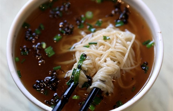 In pics: fine dried noodle produced in Shijiazhuang, China's Hebei