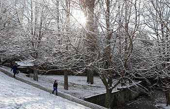 Ankara covered with snow after overnight snowfall