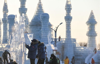 Highlights of international ice sculpture competition in Harbin