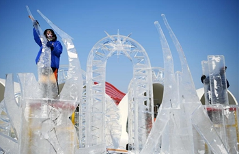 In pics: international ice sculpture competition in Harbin