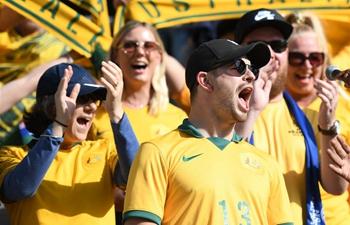 Fans' reaction ahead of match between Jordan, Australia of AFC Asian Cup