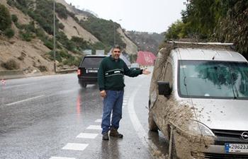 Heavy rains overnight causes landslide in Lebanon