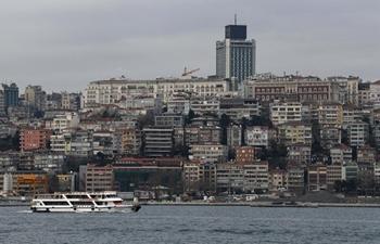 Scenery of Bosphorus Strait in Turkey