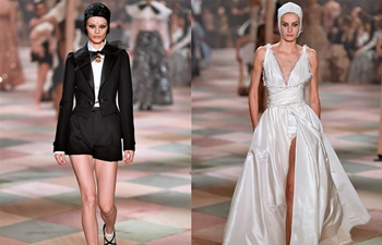 Creations of Christian Dior presented during Paris Fashion Week