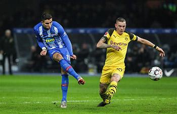 German Bundesliga: Dortmund beats Hertha BSC 3-2