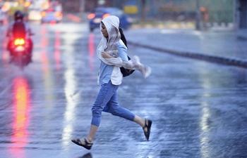 Rain helps bring down temperature in Bangalore, India