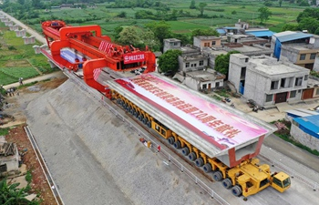 In pics: construction site of Guiyang-Nanning high-speed railway