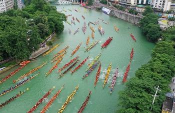 Dragon boat championship held to celebrate upcoming Dragon Boat Festival