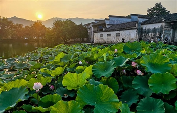 Scenery of Hongcun Village of Yixian County, east China's Anhui