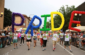 People participate in 50th Annual Chicago Pride Parade in U.S.