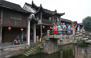 Daily life in Xinshi ancient town in E China's Zhejiang