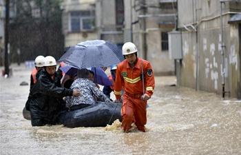 Intensive rainfall hits China's Fujian