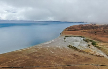 Scenery of Lake Manasarovar in SW China's Tibet